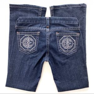 Bebe Kayla Be Medallion Boot Jeans Size 28
